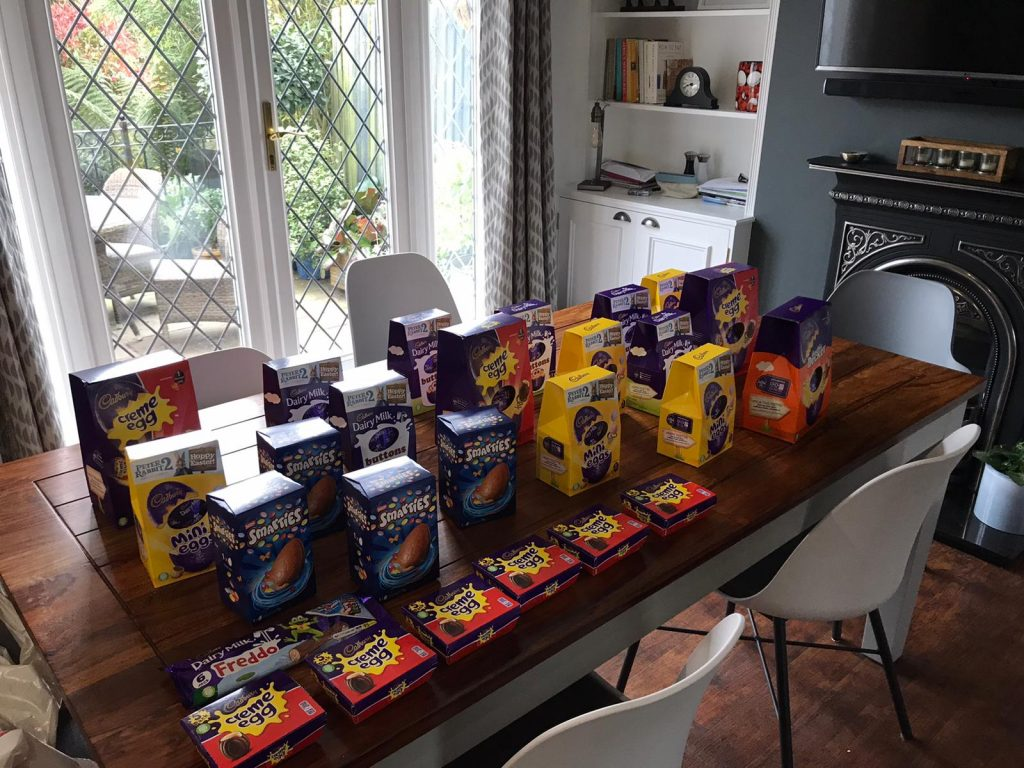 Easter Eggs for the Food Bank